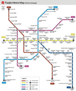 Tianjin Subway Map.Bus And Subway In Tianjin Mobility In China